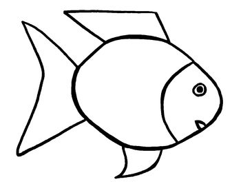 this is an 85 x 11 outline of the rainbow fish its darker and larger