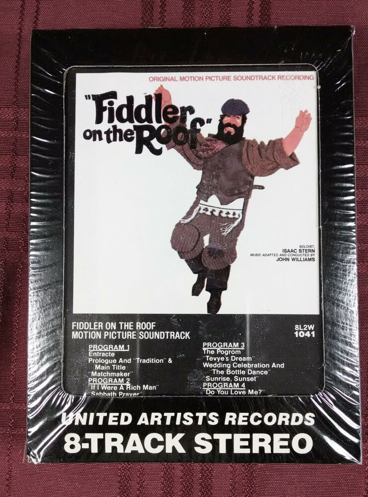 Fiddler On the Roof 8Track Tape Cartridge Motion Picture