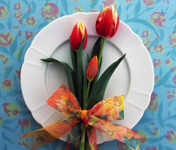 Tulipanes al plato