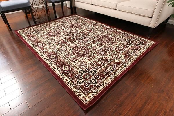 0551 Burgundy Oriental Area Rugs Area Rugs Red Area Rug