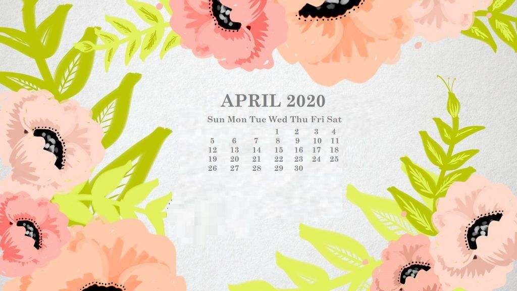 Online April 2020 Calendar Free Printable Monthly