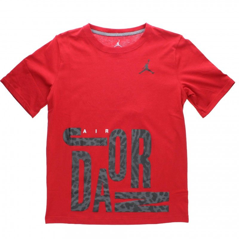 The Air Jordan Youth OverSized All Shoe Tee is now