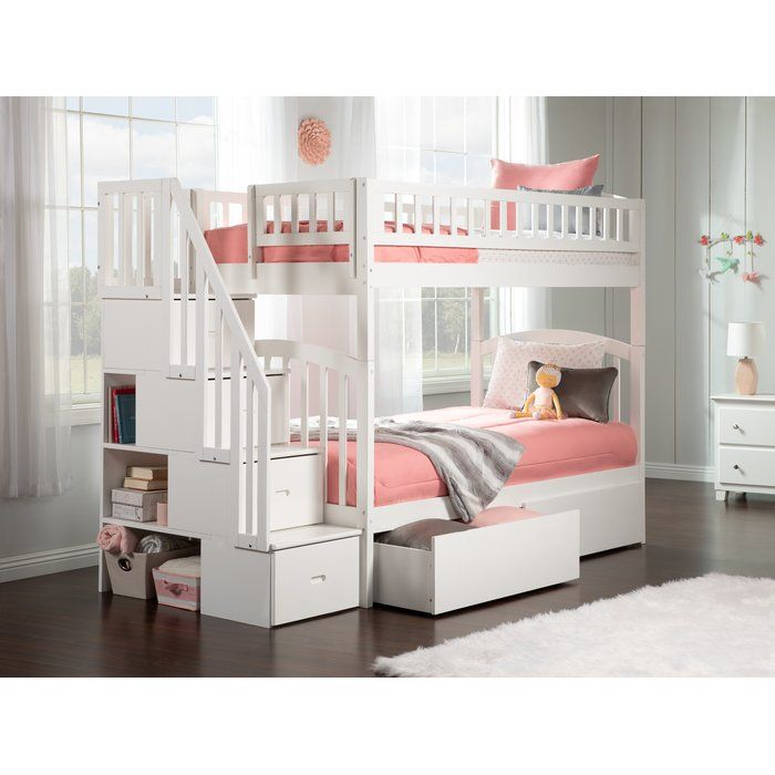 Best Staircase Twin Over Twin Bunk Bed With Drawers W 2019 400 x 300