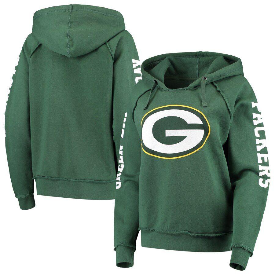 Green Bay Packers New Era Women S Touchdown Fleece Pullover Hoodie Green Green Bay Packers Hoodie Green Packers Hoodie