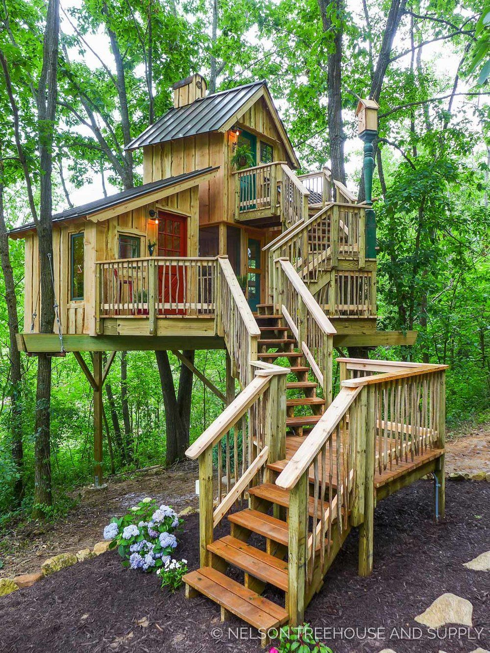 How To Build Three Room Treehouse To Live In