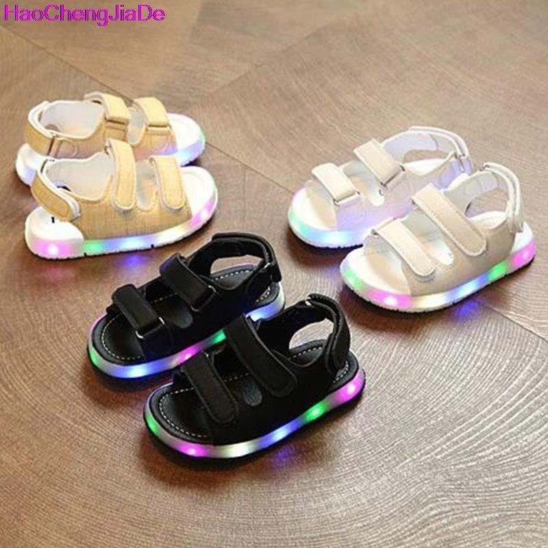 haochengjiade summer led light shoes children sandals boys