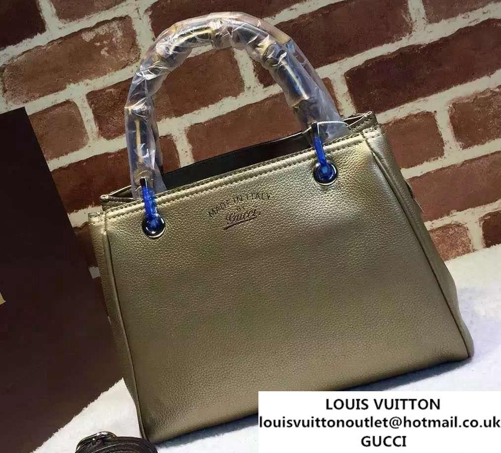 543bde5e1725 Gucci Small Bamboo Shopper Leather Tote Bag 336032 Gold Bamboo, Tote Bag,  Gucci,