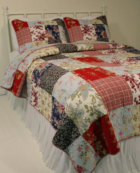 Emilia French Country Cottage Chic Quilt Set | Cabin Fever ... : country cottage quilts - Adamdwight.com