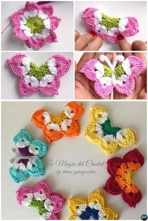 La Magia Crochet Schmetterling Kostenlose Muster | häkeln ...