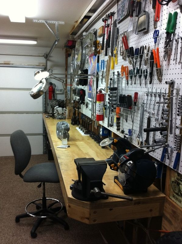 The Garage Journal Board View Single Post Lets See Your Workbench Garage Tools Pegboard Garage Garage Makeover