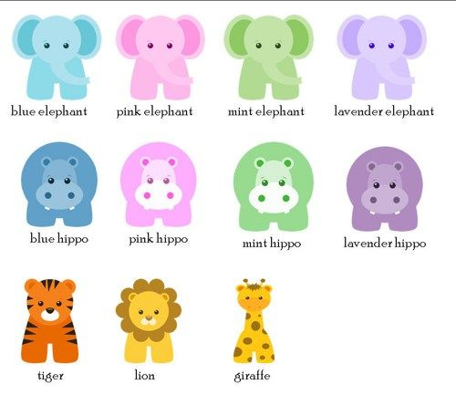 Favor Tags   Personalized Baby Animals  Baby Shower Favor Tags .