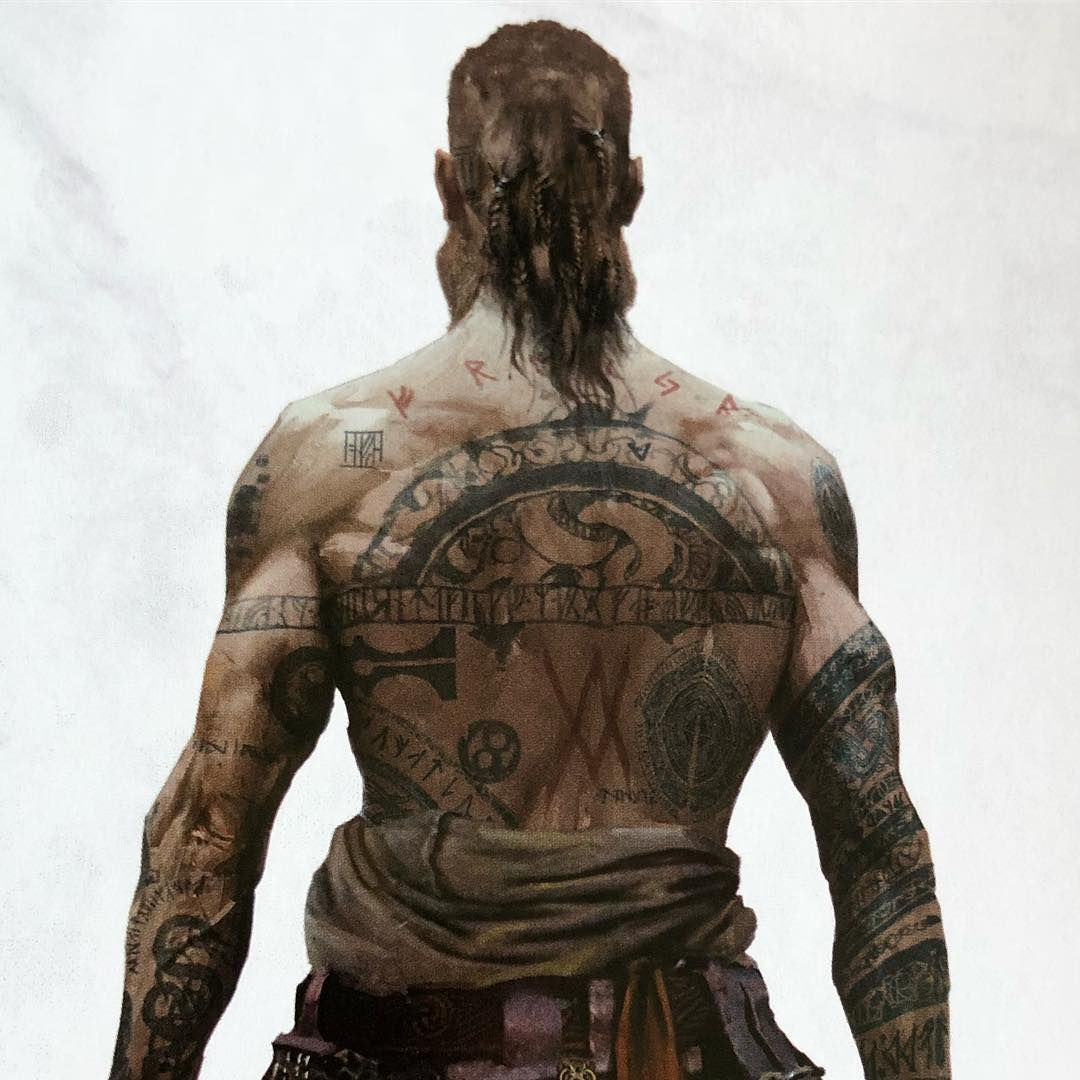 Great Shot Of Baldur From The Book The Art Of God Of War