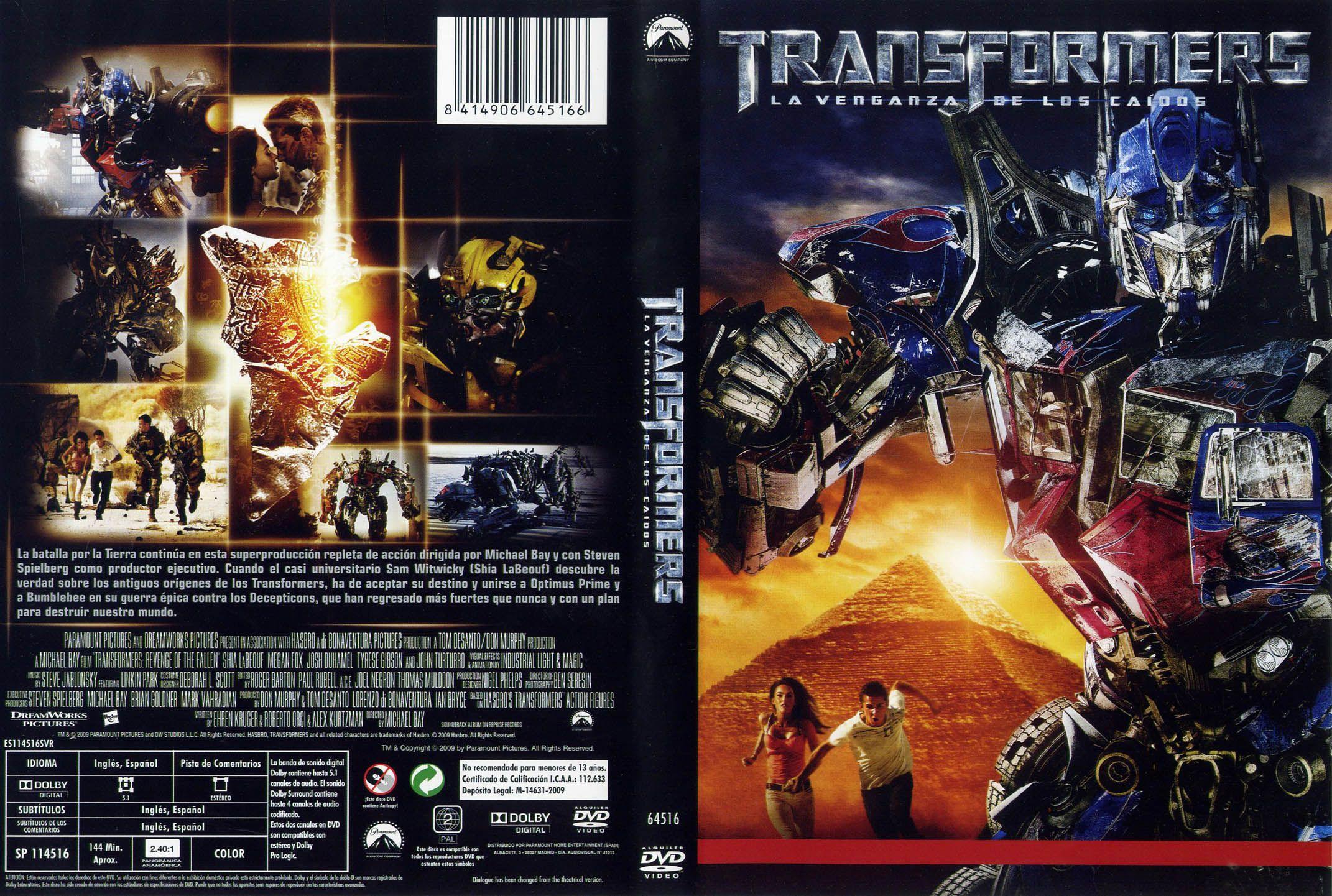 Caratula Dvd Transformers 1 Buscar Con Google Portadas De Películas Transformers Dvd