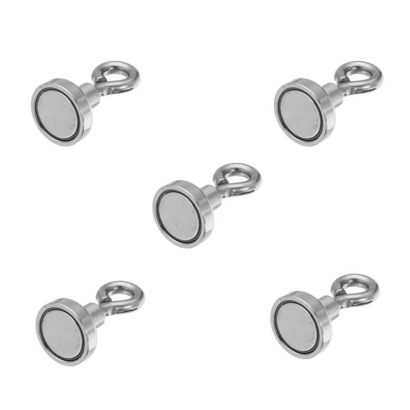 Effetool 16mm 5kg Neodymium Recovery Magnet Metal Detector Eyebolt Circular Ring