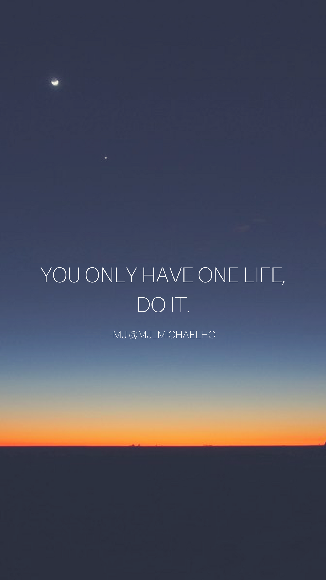 You only have one life, DO IT. Follow me on IG: instagram.com