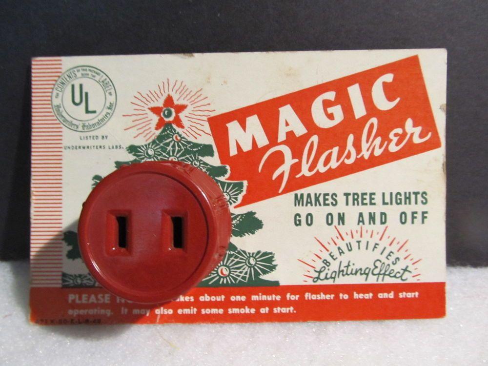 vintage christmas light blinker flasher plug universal lites on card japan vintage christmas
