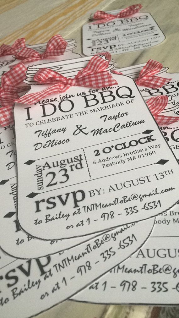 tie the knot wedding invitations etsy%0A I DO BBQ Personalized Invitations by BaileyActiveEtsy on Etsy More