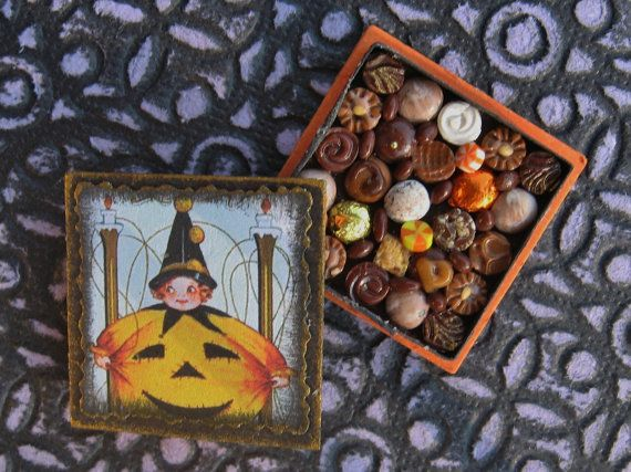 Miniature Box of Chocolates Pumpkin Costume 12th by TheSweetBaker, $13.50