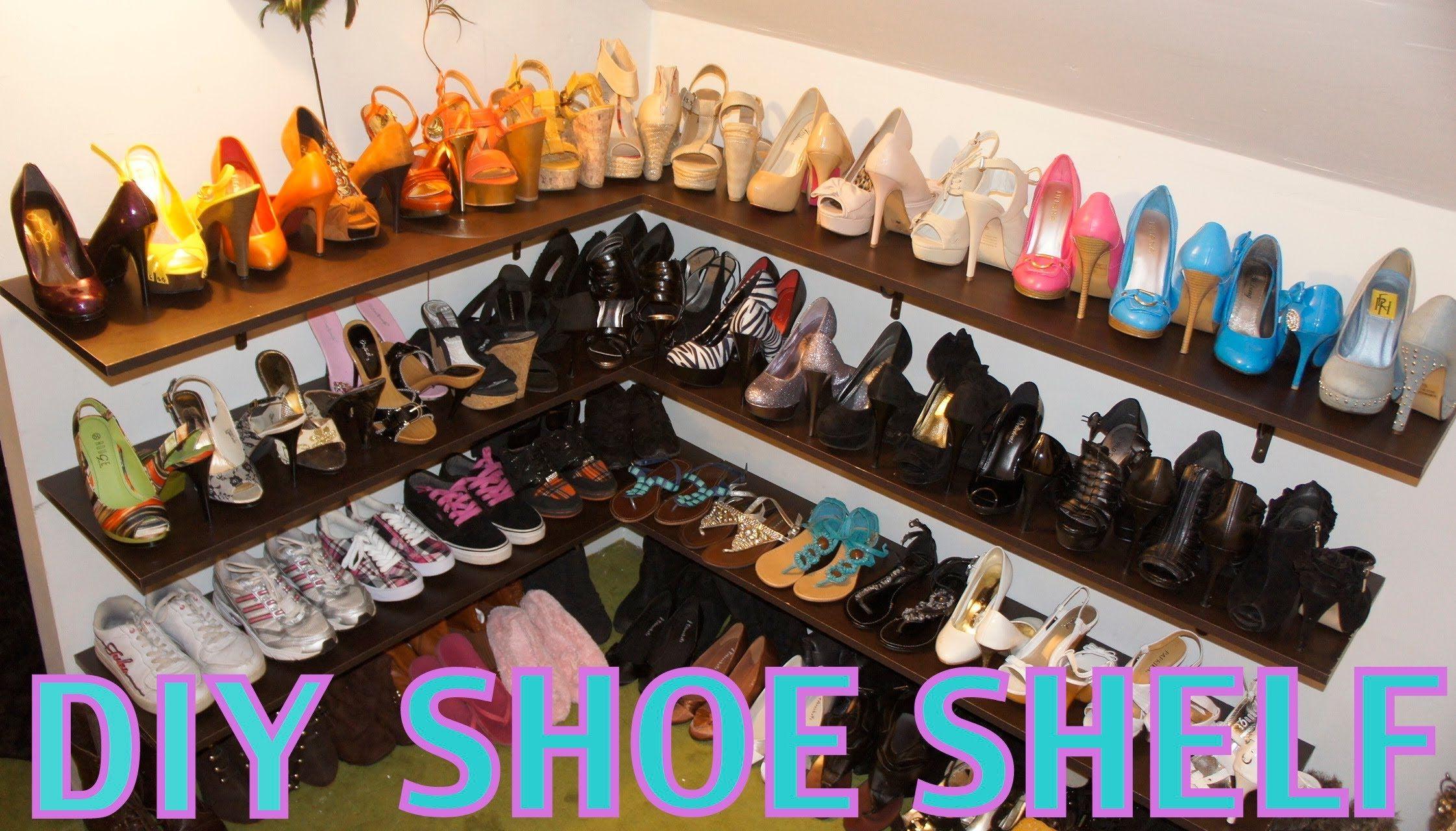 Diy shoe shelf and organization shoe shelf diy shoe shelf