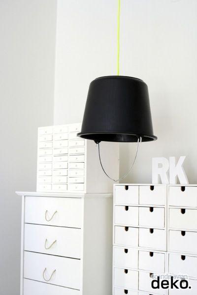 DIY: Bucket lamp