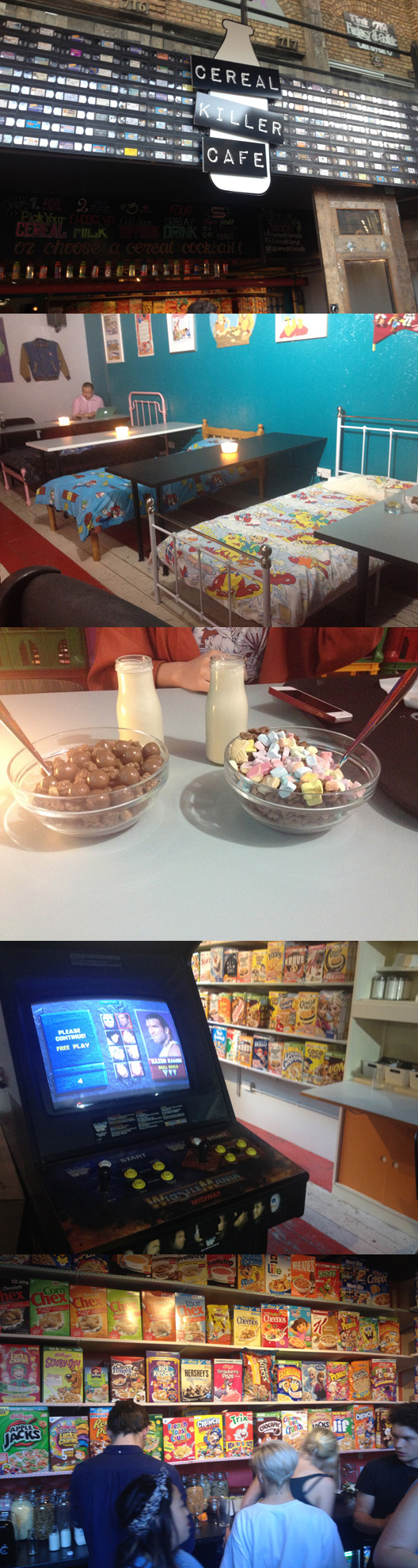 There's a new cereal café in London as the Cereal Killer gang open a second branch in Camden Stables. (They already have one on Brick Lane, Shoreditch.)