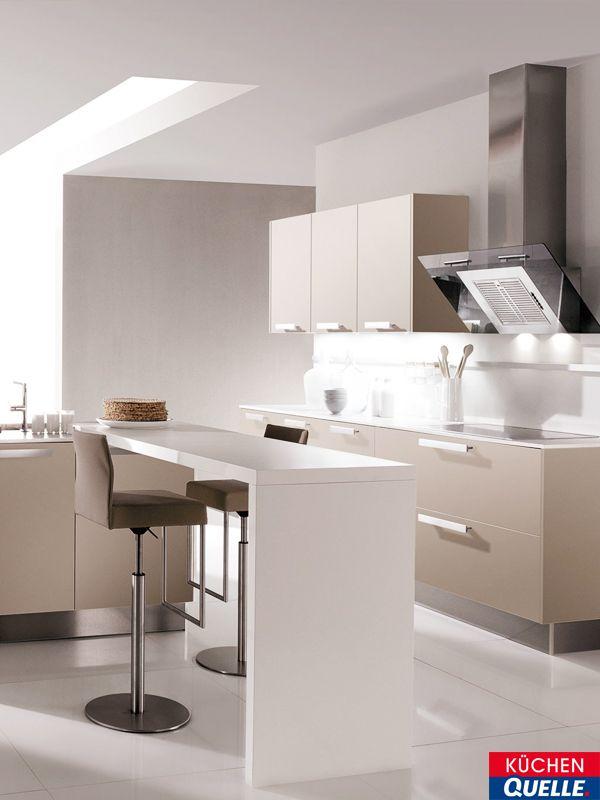Pure Harmonie verbreitet die Farbkombination der Design-Küche - küchenzeile weiß hochglanz