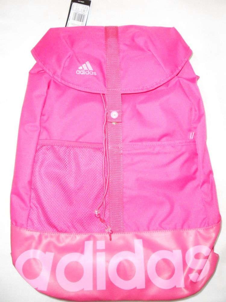 67c2d5d0fd Adidas Girls Womens Pink Bag Rucksack Backpack Sports Bag School Gym ...