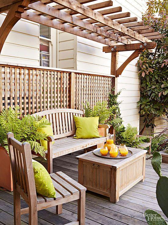 13 ways to transform your deck patio - Private Patio Ideas