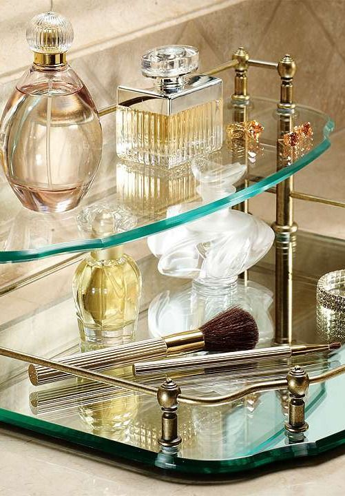 your bath essentials will be just an arms reach away and displayed in style on the vanity organizationking bedroomvanity trayperfume - Bathroom Accessories Vanity Tray