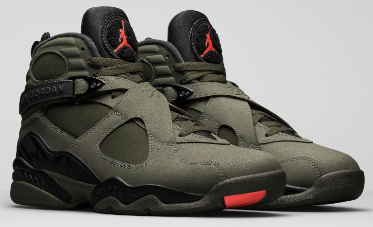 e60c489fea8a Jordan s Newest Sneakers With a Military Style Touch. Air Jordan 8 Take  Flight Sequoia ...