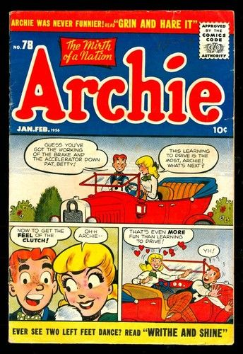Archie Comics 78 6 0 Fine 1956 Betty Veronica Jughead Romance | eBay
