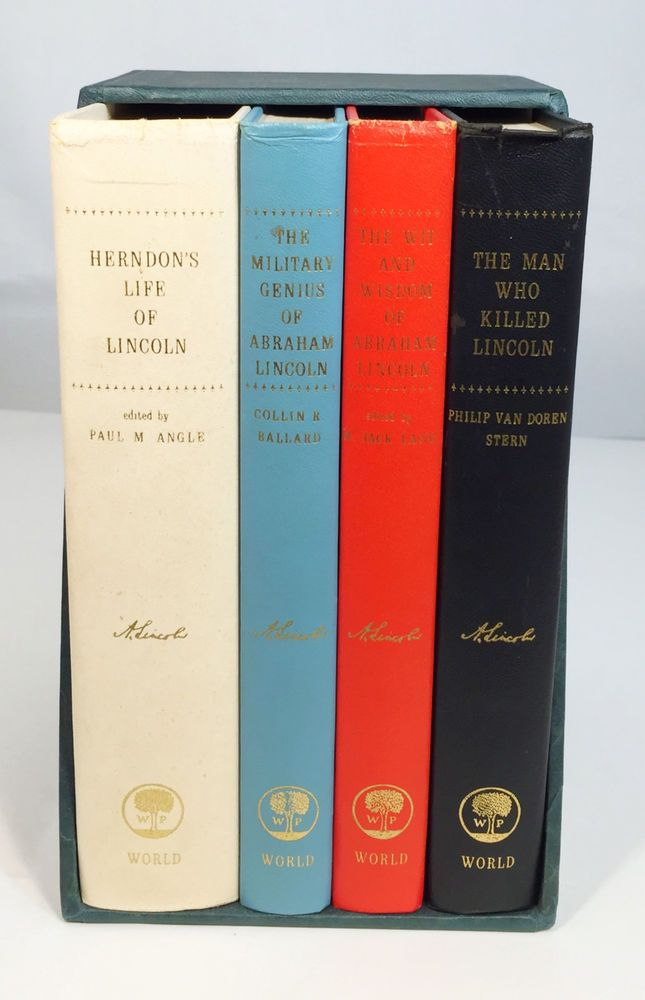 Lot of 4 Abraham Lincoln Hardcover Books: Biography, Military, U.S. History