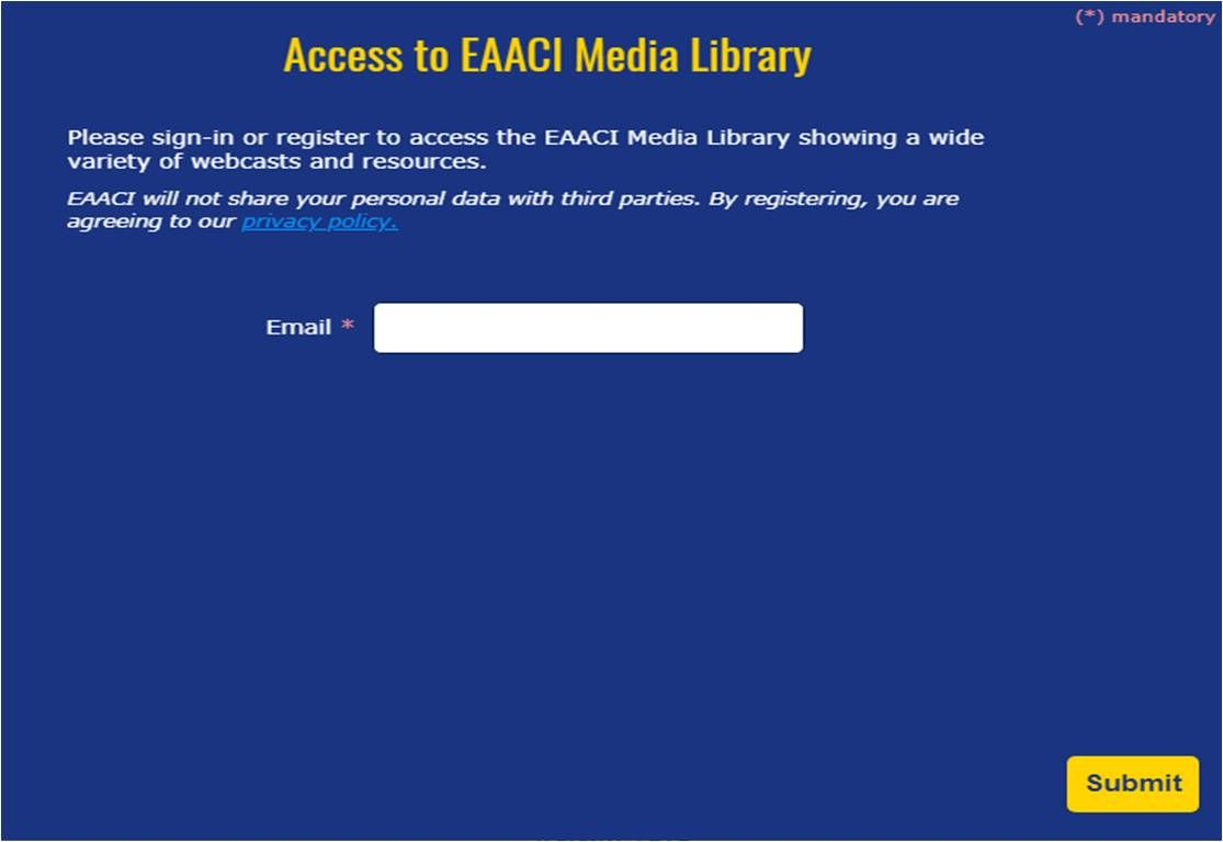 Access Eaacimedialibrary Now It S So Easy To Log In Enjoy It First Time Access Please Provide An Email Login Informatio Allergies Immunology Resources