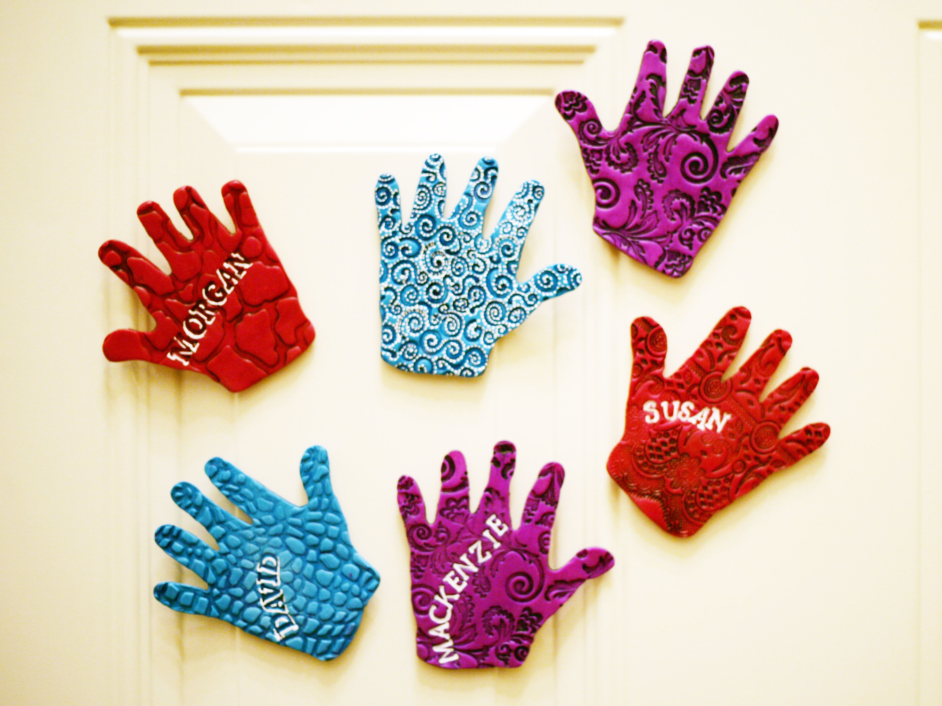 Precious Childrens Hand Magnets 12 Cute Clay Projects For Kids