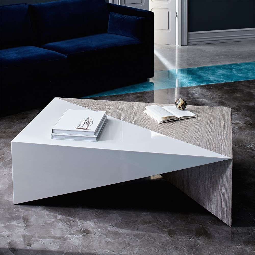 Faceted lacquer coffee table coffee table living room