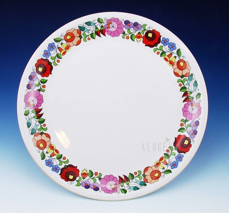 Kalocsa Porcelain Serving Platter I wonu0027t be buying this because itu0027s out of my price range but I like it. Of course itu0027s Hungarian!  sc 1 st  Pinterest & Kalocsa Porcelain Serving Platter | Porcelain China china and ...
