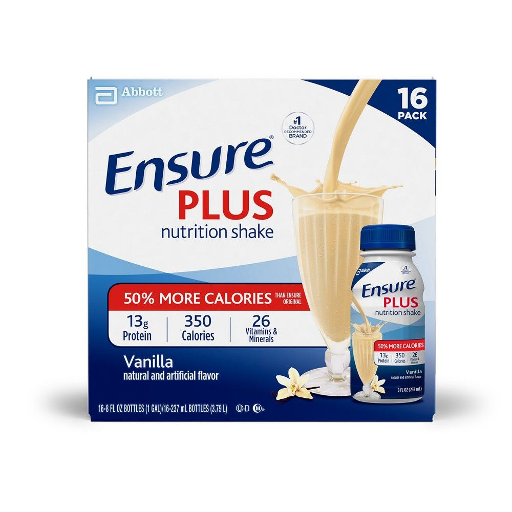 Ensure Plus Nutrition Shake Vanilla 8oz Nutrition Shakes