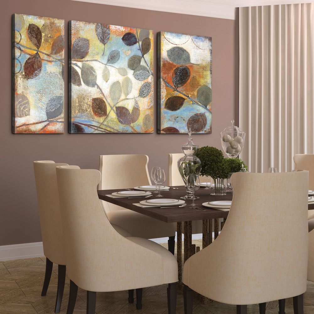 Studio 212 'Autumn Muse' 30x60-inch Textured Canvas Triptych Art Print | Overstock™ Shopping - Top Rated Canvas