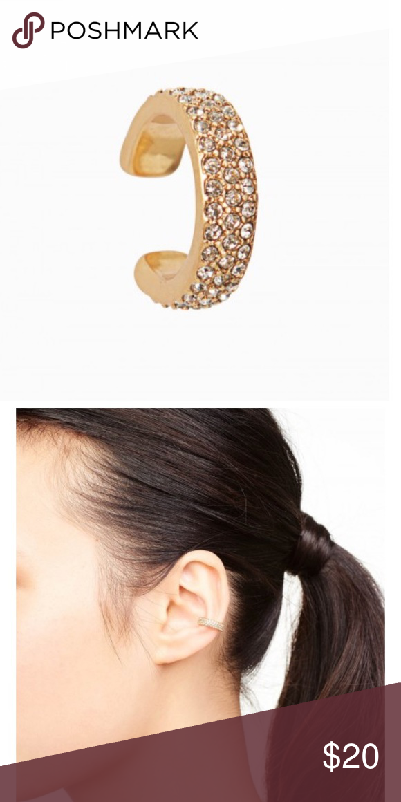 Stella and Dot pave ear cuff Never worn, gold Stella and Dot ear cuff Stella & Dot Jewelry Earrings