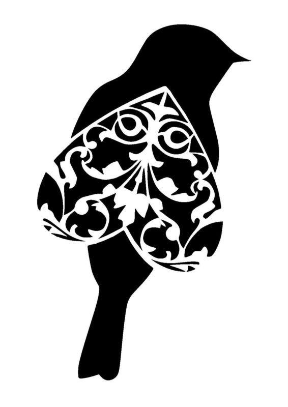 vintage bird 3.1 stencil craft,fabric,glass,furniture,wall art in Crafts, Multi-Purpose Craft Supplies, Stencils & Templates | eBay