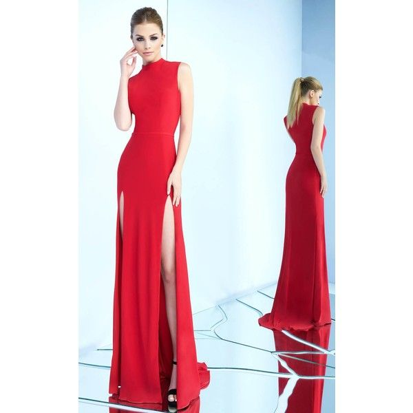 9b63a29aeb Mac Duggal 25034I Prom Under  300 Long High Neckline Sleeveless ( 258) ❤  liked on Polyvore featuring dresses