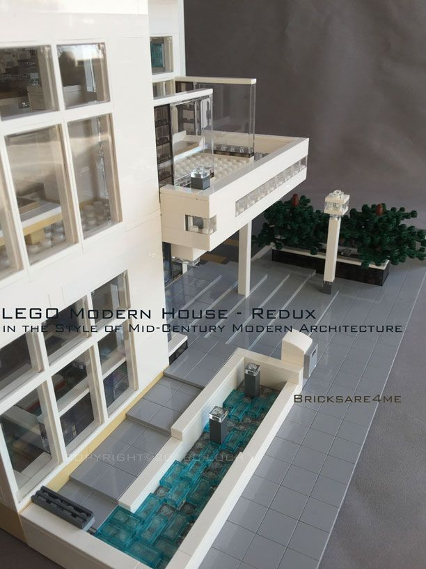 Modern Architecture Lego modern house - redux - in the style of mid-century modern