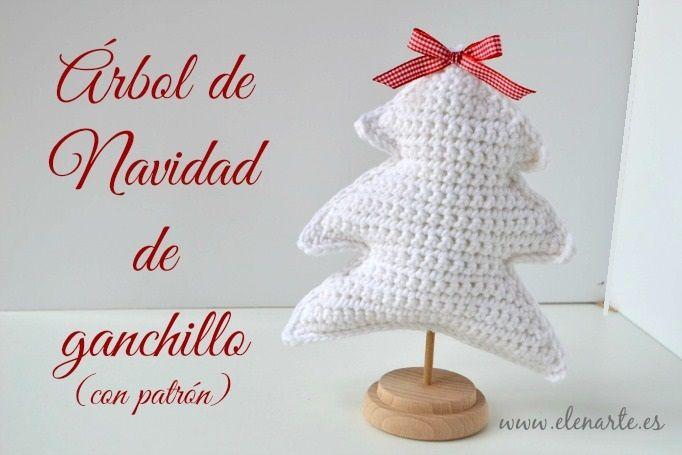 Árbol de Navidad de ganchillo (con patrón). (Handbox | Navidad de ...