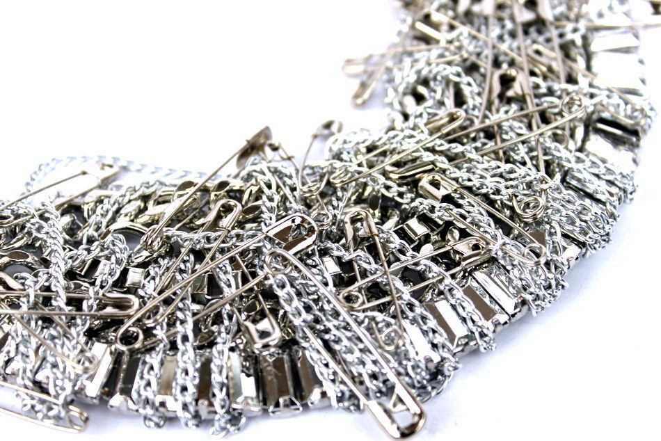 Safety Pin Small bib necklace