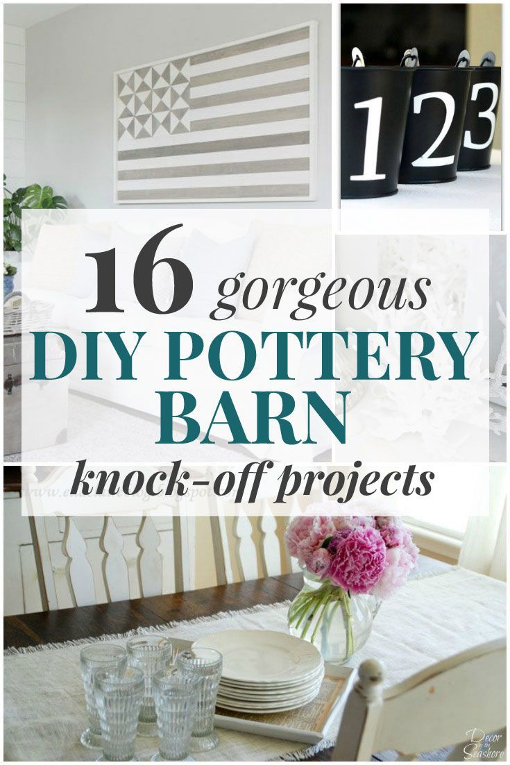 These gorgeous DIY Pottery Barn knock offs are the perfect addition