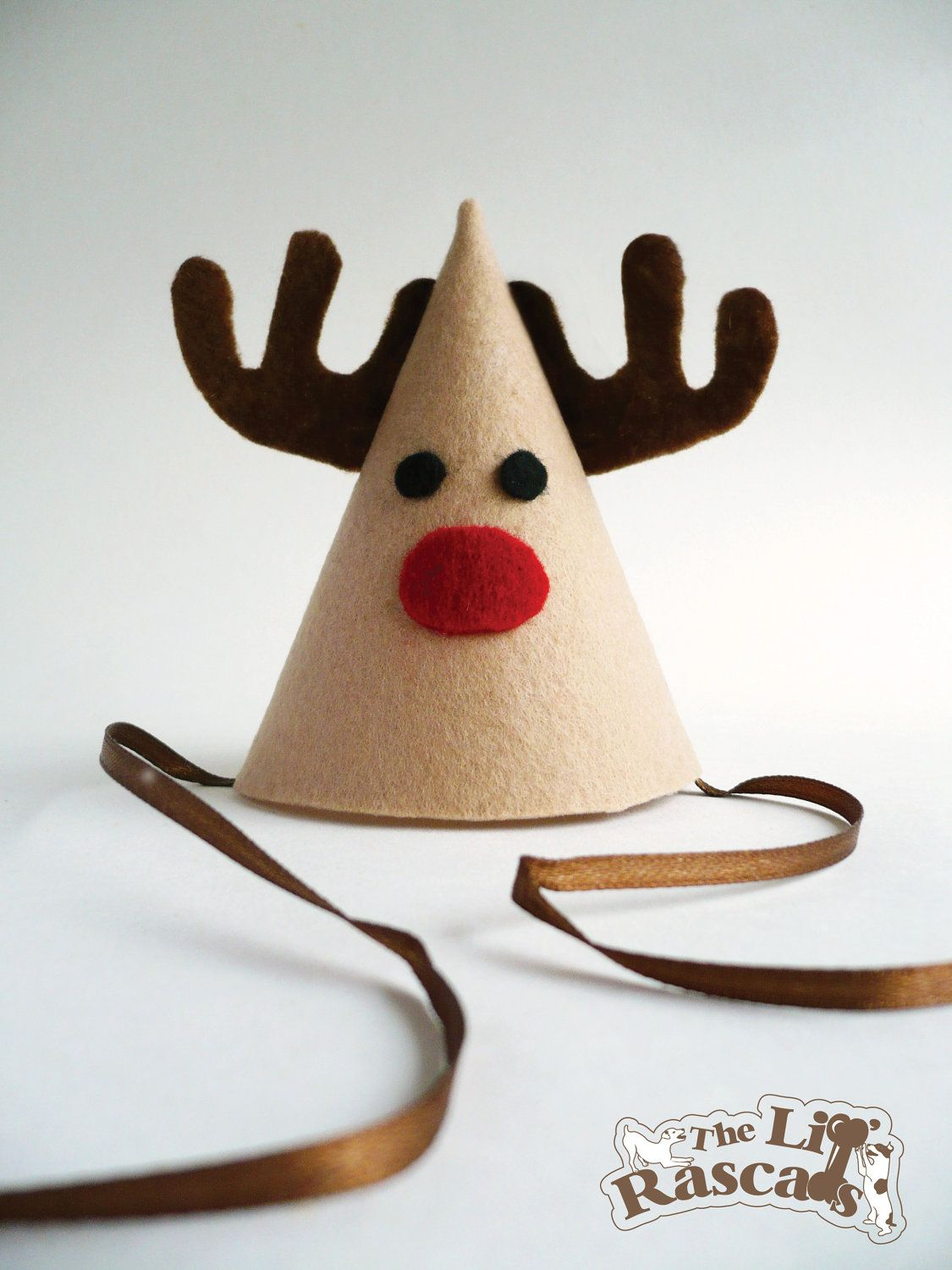 Delightful Christmas Party Hat Ideas Part - 3: Christmas Rudolph The Red Nose Reindeer Party Hat Costume For Dogs. $8.50,  Via Etsy
