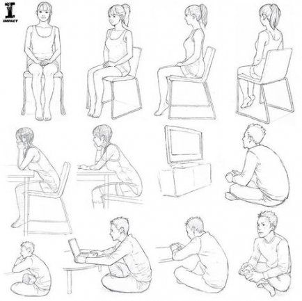 53 Ideas For Drawing People Sitting Paintings Drawing Di 2020 Menggambar Wajah Cara Menggambar Referensi Gambar