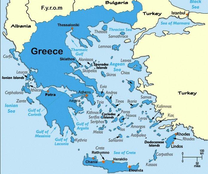Detailed Map of Greece - Best Of Greece | Greek islands map ...