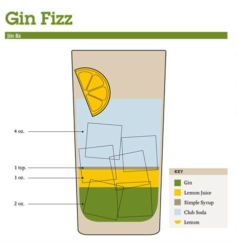 Mix drink cocktail guide gin fizz cocktails for Best mix with gin