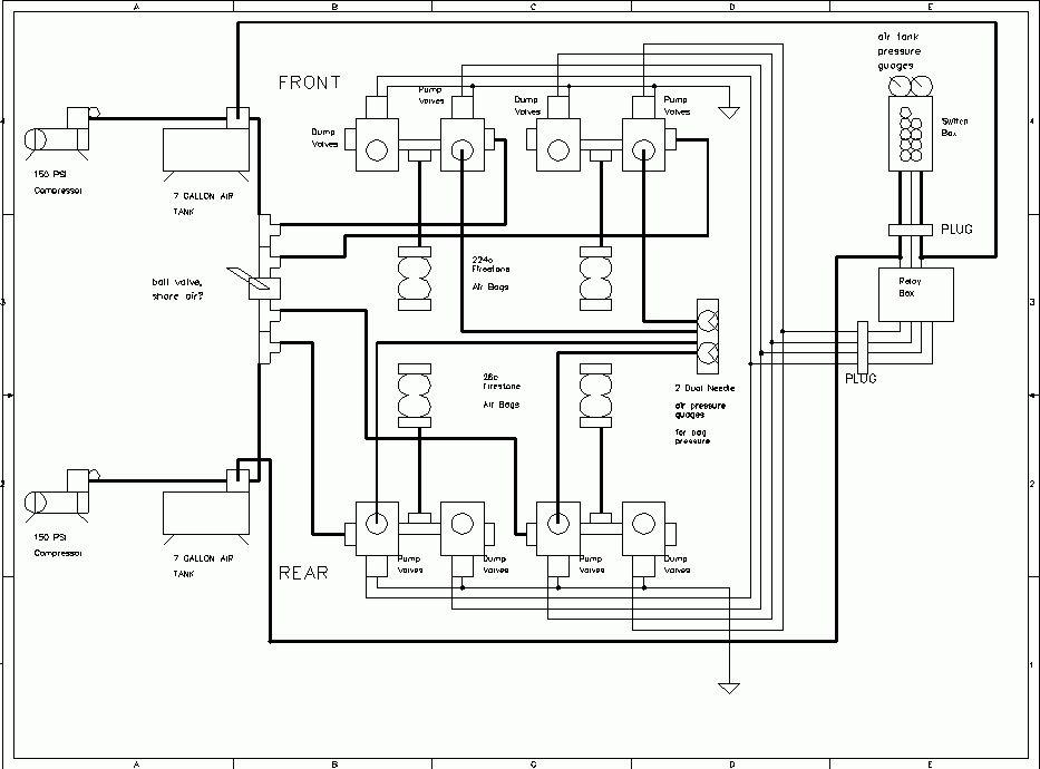 Airbag Suspension Valve Wiring Diagram Air Ride Solenoid Throughout | Airbags | Diagram, Air